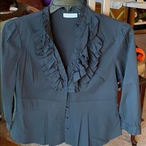 John Paul Richard blouse with 3/4 sleeves sz Med